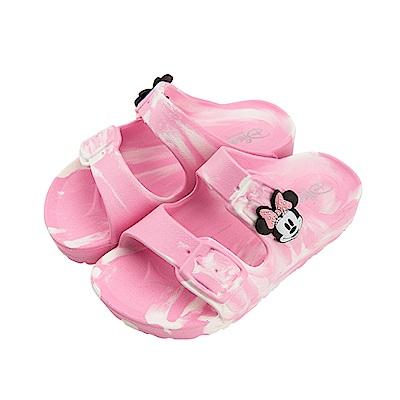 迪士尼童鞋 米妮 復古迷彩休閒拖鞋-粉