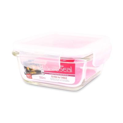 樂扣樂扣 第三代耐熱玻璃保鮮盒-正方形300ML(8H)