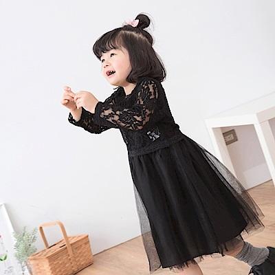 蕾絲雕花澎澎裙兩件式洋裝-OB大尺碼