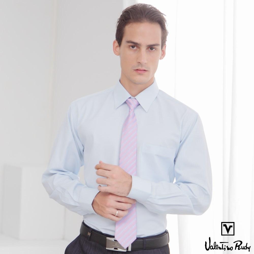 Valentino Rudy范倫鐵諾.路迪-長袖襯衫-藍色斜紋