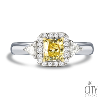 City Diamond引雅『 璀璨王妃』 81分黃彩鑽石戒指