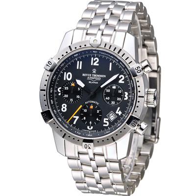 梭曼 Revue Thommen 指揮官系列計時機械腕錶-銀色/41mm