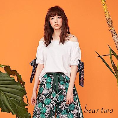 beartwo 露肩造型可調肩帶甜美上衣(二色)