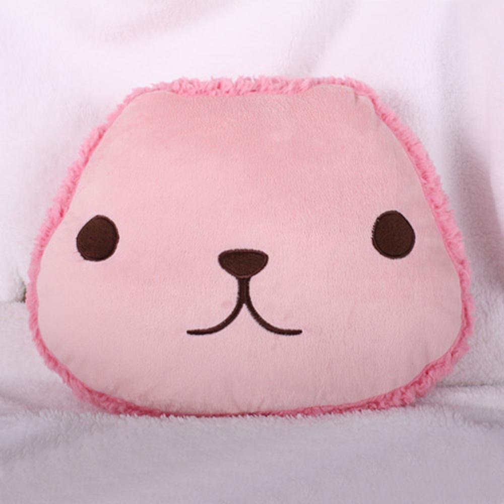 (保暖任選)Kapibarasan 水豚妹咖啡小舖系列夾心餅乾抱枕。粉