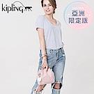 Kipling 手提包 櫻花粉素面-小