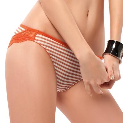 推EASY SHOP-就是要善變 低腰三角褲(條紋橙)