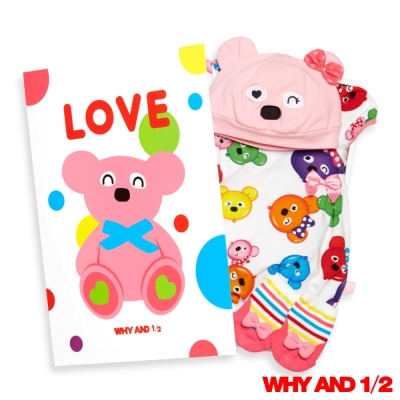 WHY AND 1/2 彌月禮盒連身衣白色65公分