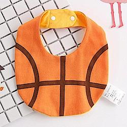 Baby unicorn 籃球造型純棉圍兜口水巾