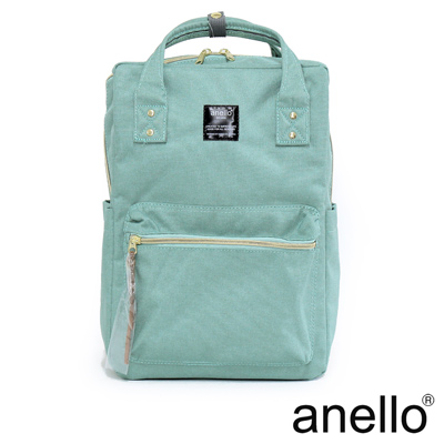 anello 獨特混色花紋方型後背包 薄荷綠