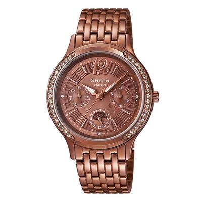 SHEEN 星月優雅時尚施華洛世奇指針腕錶(SHE-3030BR-5A)-古銅色IP/34mm