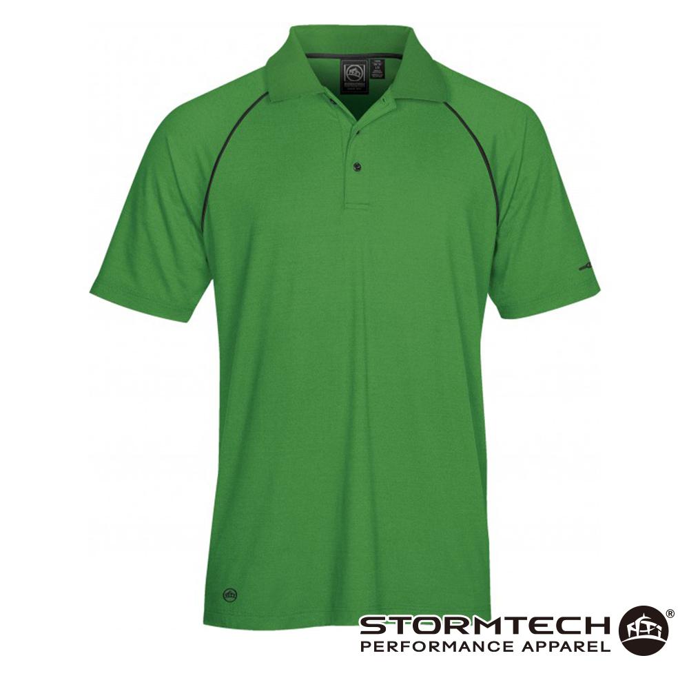 【加拿大STORMTECH】IPS-4 吸濕排汗抗UV POLO衫-男 (綠)