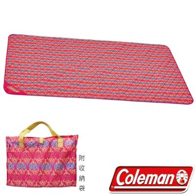 Coleman 23125 紅圖騰野餐毯/休閒毯 露營墊/海灘墊/防水野營墊/桌遊軟墊