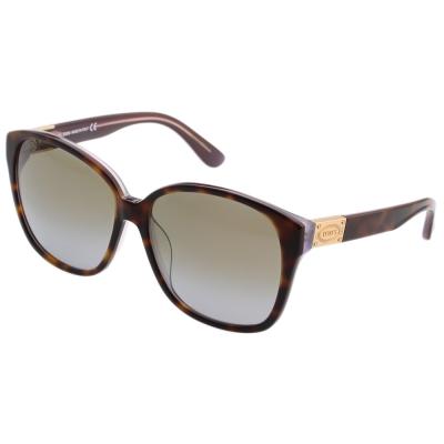 TOD'S 修飾完美臉型大方框 太陽眼鏡 (琥珀色)TO9089