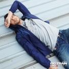 BIG TRAIN 數位迷彩防風衣-男-深藍