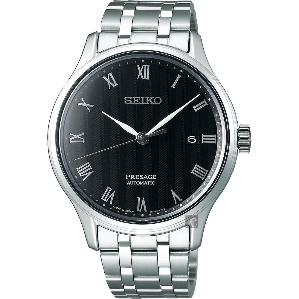 SEIKO精工 Presage 日式風格羅馬機械錶(SRPC81J1)