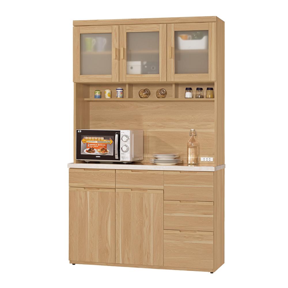CASA卡莎 維爾范4尺石面組合餐櫃/收納櫃