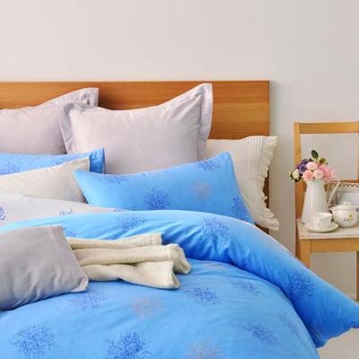 美夢元素 精梳純棉兩用被床罩組-雙人(自由風情)