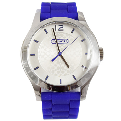 COACH-Maddy-經典LOGO時尚腕錶-紫