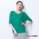 獨身貴族 天絲棉舒適五分袖線衫(3色)