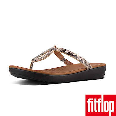 FitFlop STRATA TOE-THONG SANDALS蛇紋