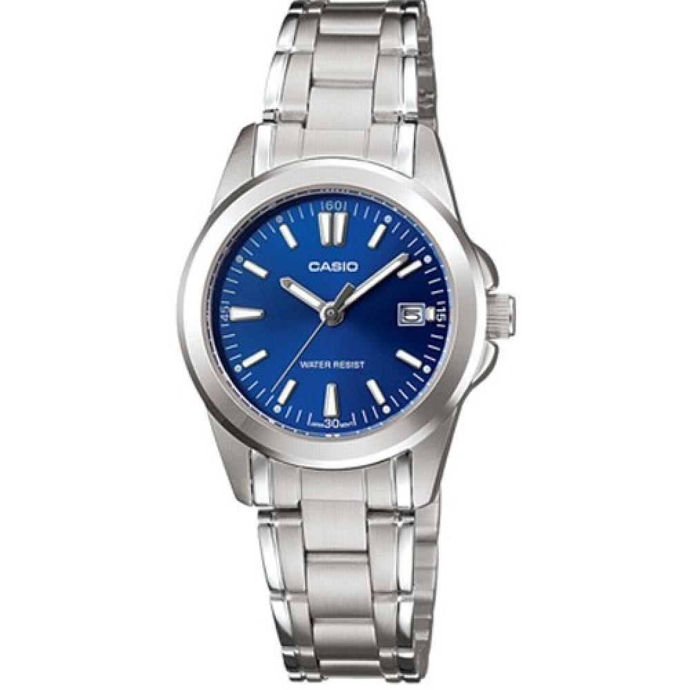 CASIO 時尚典雅淑女腕錶(LTP-1215A-2A2)-藍/28mm