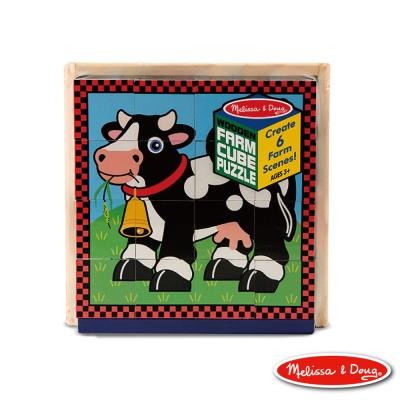 美國瑪莉莎 Melissa & Doug 農場動物立體方塊拼圖