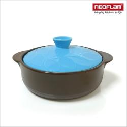 韓國NEOFLAM BAUM系列 22cm陶瓷不沾時尚浮雕淺陶鍋