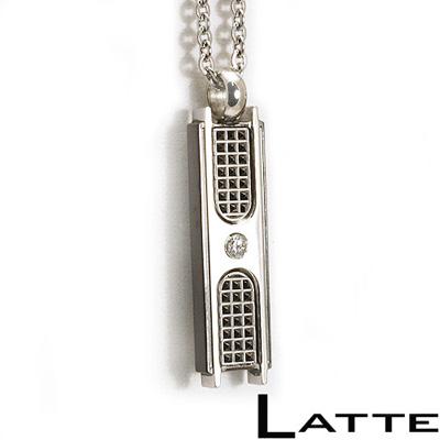 【LATTE】搖滾情人 刻字 不鏽鋼項鍊(男)