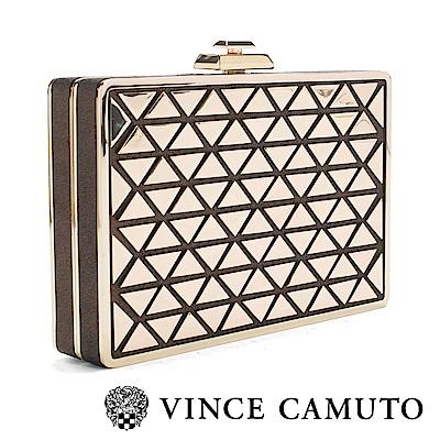 Vince Camuto 奢華幾何派對手拿包-金色