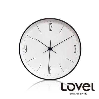 LOVEL-簡約俐落數字刻度鋁框壁鐘-掛鐘20cm