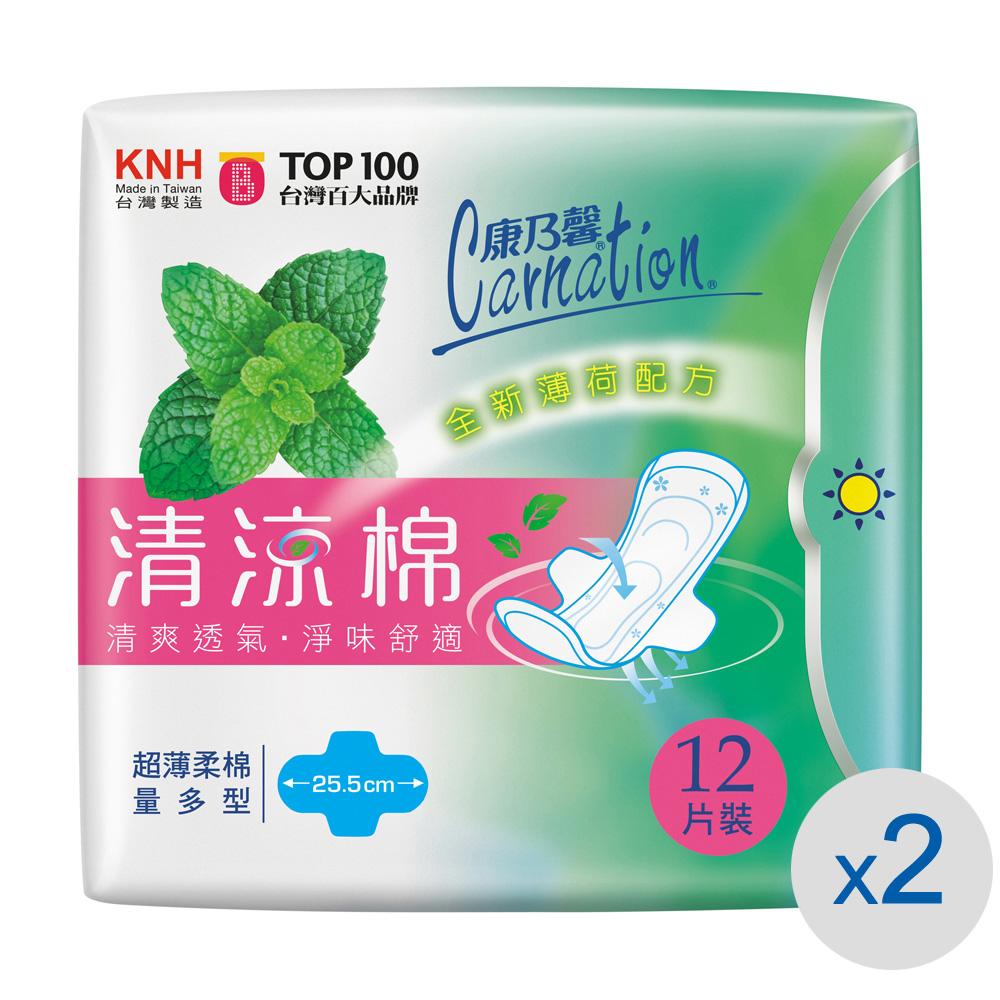 康乃馨清涼棉衛生棉 量多型12片2入裝