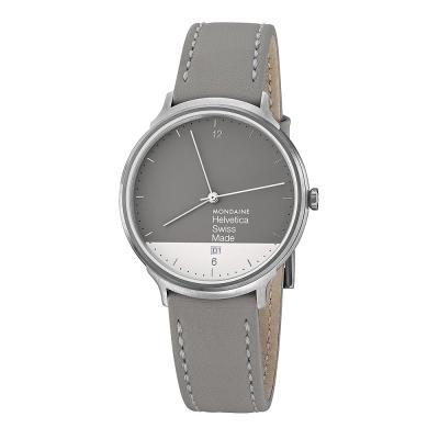 MONDAINE 瑞士國鐵 設計系列限量腕錶禮盒-灰x白 / 38mm