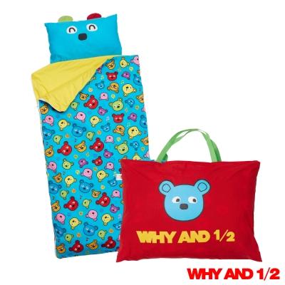 WHY AND 1/2 普普熊兒童睡袋藍色