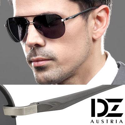 DZ 歐紳型潮 抗UV 偏光太陽眼鏡墨鏡(槍框灰片)