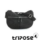 tripose 迷彩系列多格層拉鍊肩背斜背包 黑