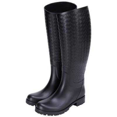 BOTTEGA VENETA 經典編織造型雨靴(黑色)