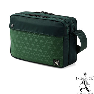 PORTER - 旅人視覺NIFTY小型輕巧斜背包 - 綠