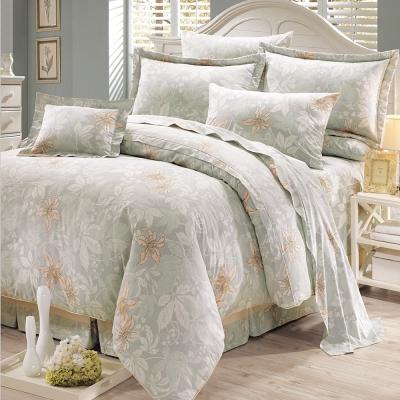鴻宇HongYew 100%精梳棉 克勞帝歐 雙人七件式兩用被床罩組