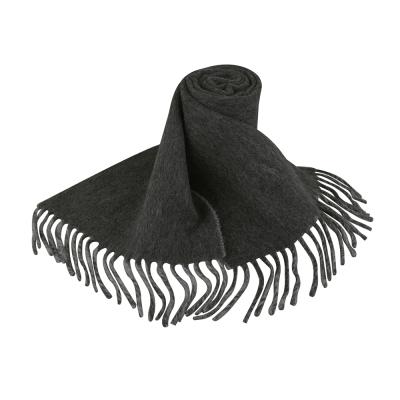 RALPH LAUREN POLO 雙色刺繡馬LOGO圍巾(黑)
