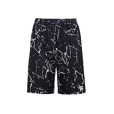 FILA 男抗UV吸濕排汗針織短褲-全印 1SHS-1304-DK