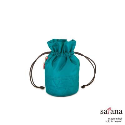 satana -929 Ladies 復刻風尚 束繩迷你水桶包-水鴨綠