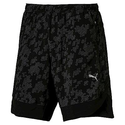 PUMA-男性慢跑系列OceanRun9吋印花短褲-黑色-歐規