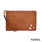 FOSSIL TRAVEL 收納扁包-咖啡色