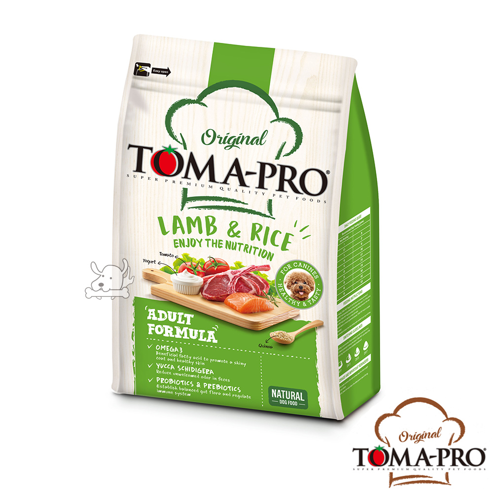 TOMA PRO 優格 毛髮柔亮 羊肉+米 小顆粒 成犬 飼料 3公斤