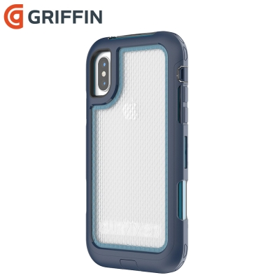 Griffin Survivor Extreme iPhoneX防摔保護殼-藍/...