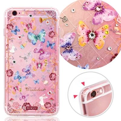 KnowStar APPLE iPhone6s Plus 奧地利水晶防摔手機鑽殼-舞魅蝶