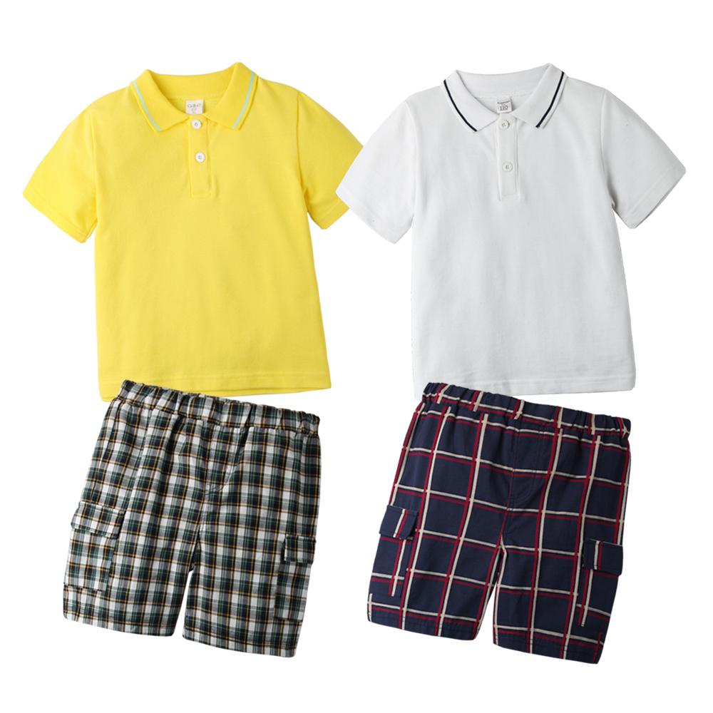 baby童衣 套裝 POLO上衣格紋褲休閒套裝 60024