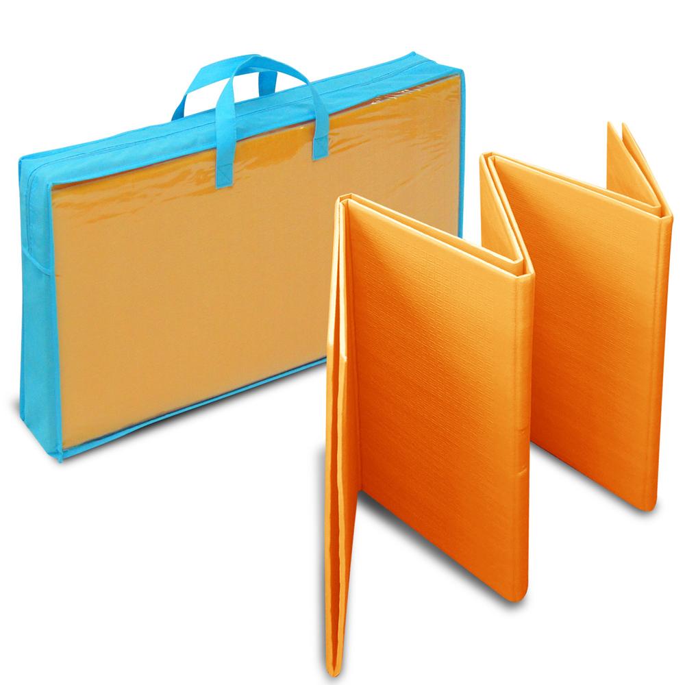 LOG樂格 多功能環保摺疊遊戲墊-繽紛橘 (折疊墊/爬行墊)
