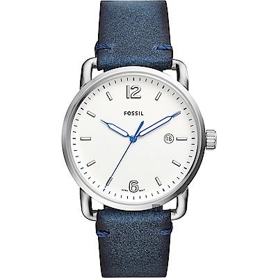 FOSSIL Commuter 尊爵時尚手錶(FS5432)-銀x藍/42mm