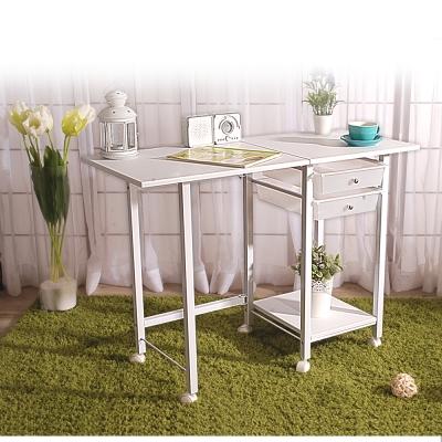 LOFT收納折疊桌-白
